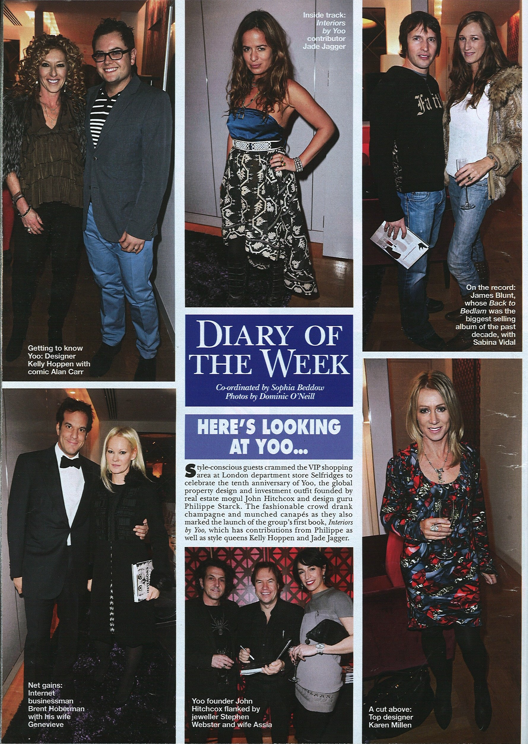 Hello magazine, 11th January 2010 DIARY OF THE WEEK