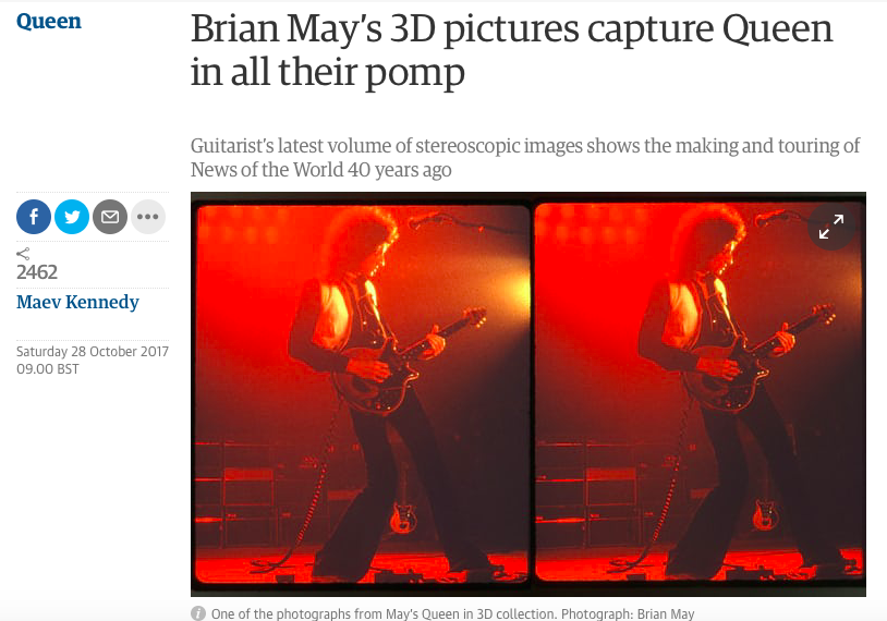 Guardian celebrate Queen in 3-D