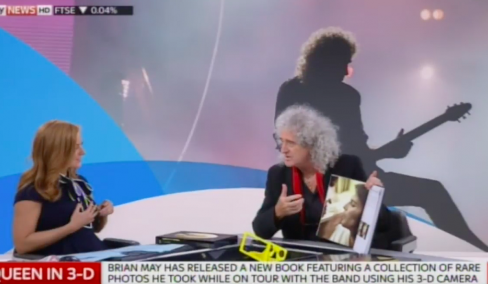 Sky News exclusive broadcast interview on Queen in 3-D
